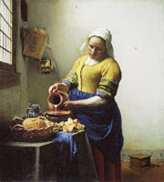 Johannes Vermeer - The Kitchen Maid