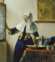 Johannes Vermeer Young Woman with a Water Pitcher