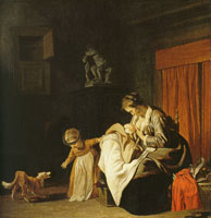 Jacob van Loo Mother with two children