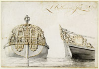 Ludolf Backhuysen The stern of a ship