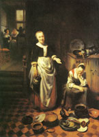 Nicolaes Maes The idle servant