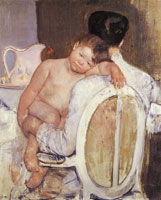 Mary Cassatt Woman holding a Child in her Arms