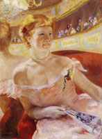 Mary Cassatt Woman with a Pearl Necklace in a Loge