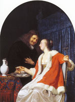 Frans van Mieris the Elder The oyster meal