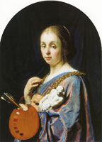 Frans van Mieris the Elder The art of painting (Pictura)