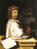 Frans van Mieris the Elder Self-portrait as a painter