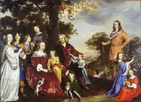 Jan Mijtens Portrait of Willem van den Kerckhoven and his Family