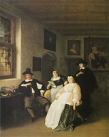 Adriaen van Ostade The De Goyer family and the painter