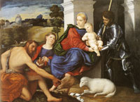 Paris Bordone The Virgin and Child with Saints John the Baptist, Mary Magdalene and George