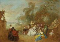 Jean-Baptiste Pater On the Terrace
