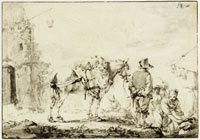 Philips Wouwerman A man with a horse