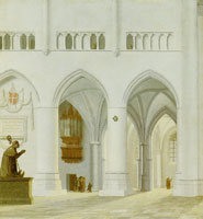 Pieter Saenredam - View across the choir of the St. Bavokerk, Haarlem