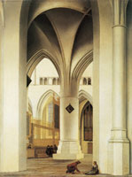 Pieter Saenredam - View of the north choir of the St. Bavokerk, Haarlem