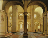 Pieter Saenredam - View across the nave of the Mariakerk, Utrecht