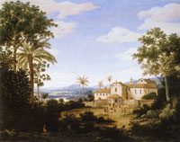 Frans Post Brazilian Landscape with the Monastery of Igaraçú