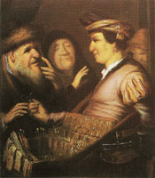 Rembrandt The spectacles-pedlar (Sight)