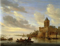 Salomon van Ruysdael The Valkhof at Nijmegen