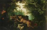 Roelandt Savery Boar hunt