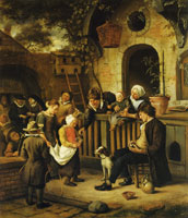 Jan Steen The Little Alms Collector