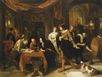 Jan Steen The Wedding of Tobias and Sarah