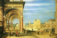 Hendrick van Steenwijck the Younger An imaginary town square