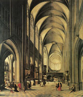 Hendrick van Steenwijck the Younger Interior of a church