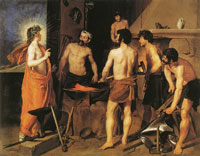 Diego Velazquez Apollo in the forge of Vulcan