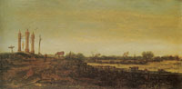 Esaias van de Velde Gallows in a Landscape