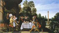 Esaias van de Velde Merry Company Banqueting on a Terrace