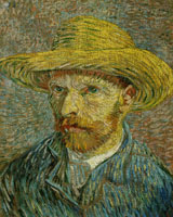 Vincent van Gogh Self-Portrait with a Straw Hat