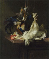 Willem van Aelst Still life with poultry
