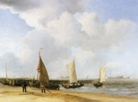 Willem van de Velde the Younger Beach scene