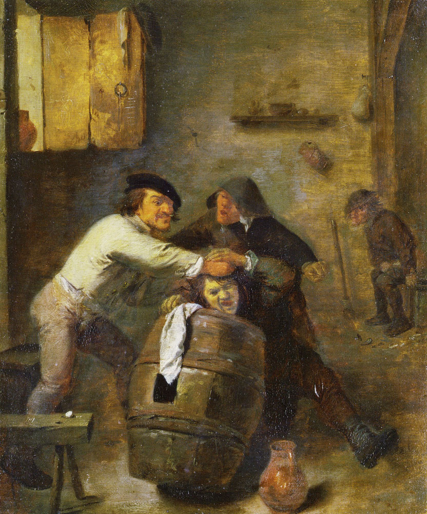 Adriaen Brouwer - Peasants Brawling in a Tavern