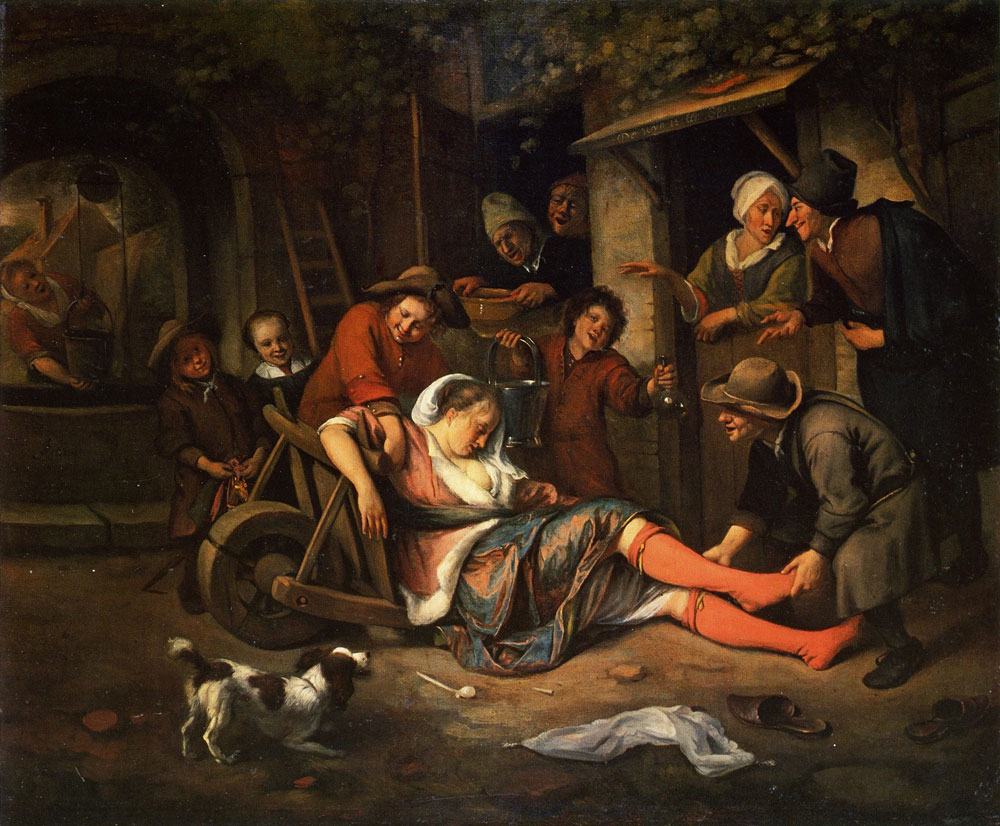 Jan Steen - Wine Is a Mocker