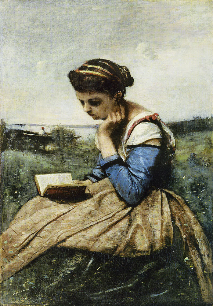 Camille Corot - A Woman Reading