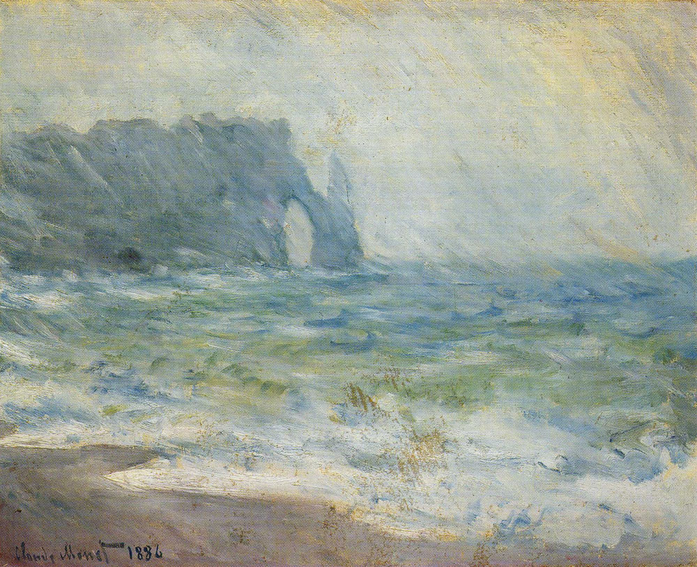 Claude Monet - Rain at Etretat