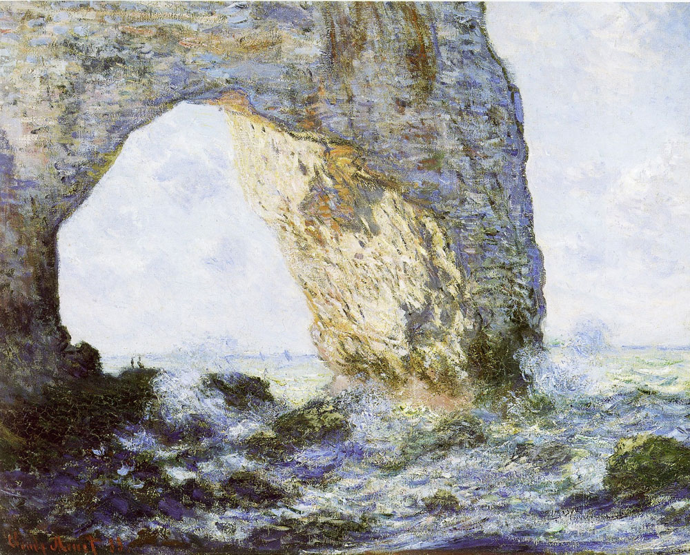 Claude Monet - Rock arch west of Etretat (The manneporte)