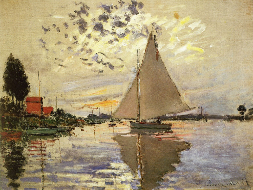 Claude Monet - Sailboat at Le Petit Gennevilliers