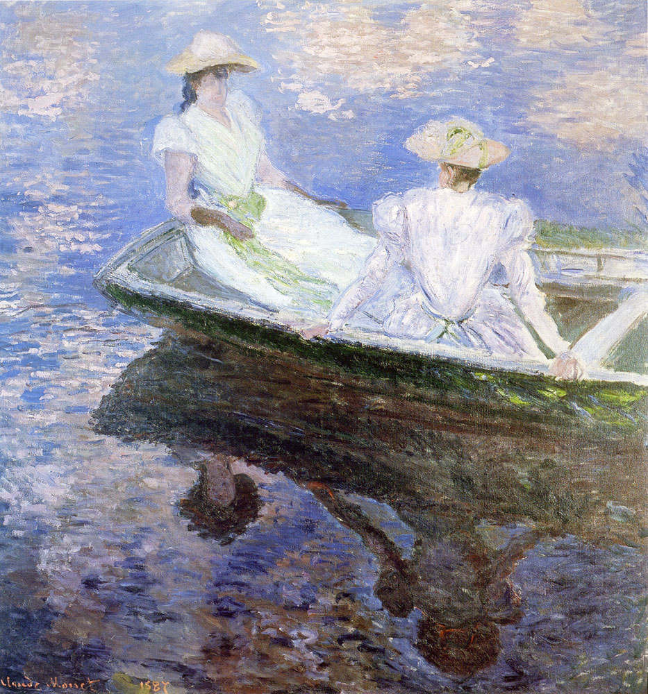 Claude Monet - Young women in a boat