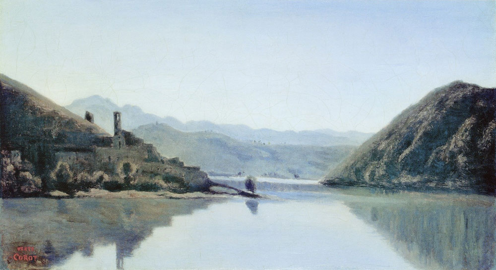 Camille Corot - The lake of Piediluco