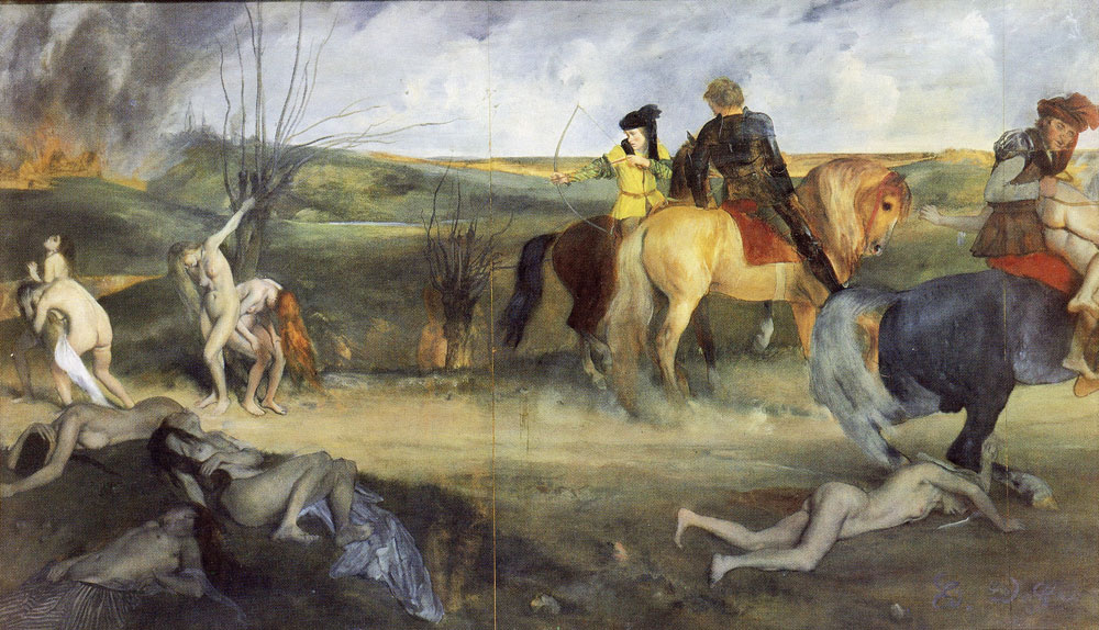 Edgar Degas - Scene of war in the middle ages