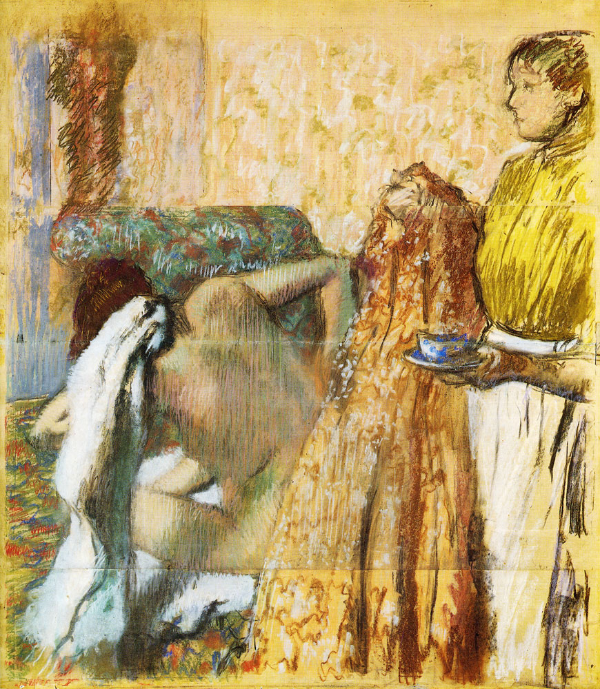 Edgar Degas - Breakfast after the bath