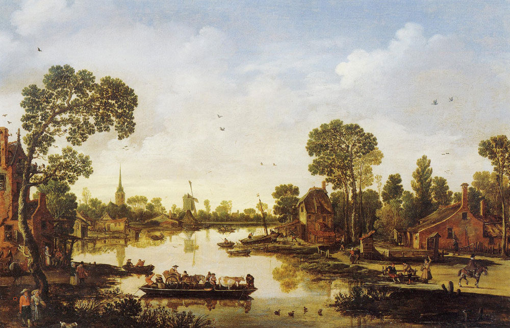 Esaias van de Velde - Cattle Ferry