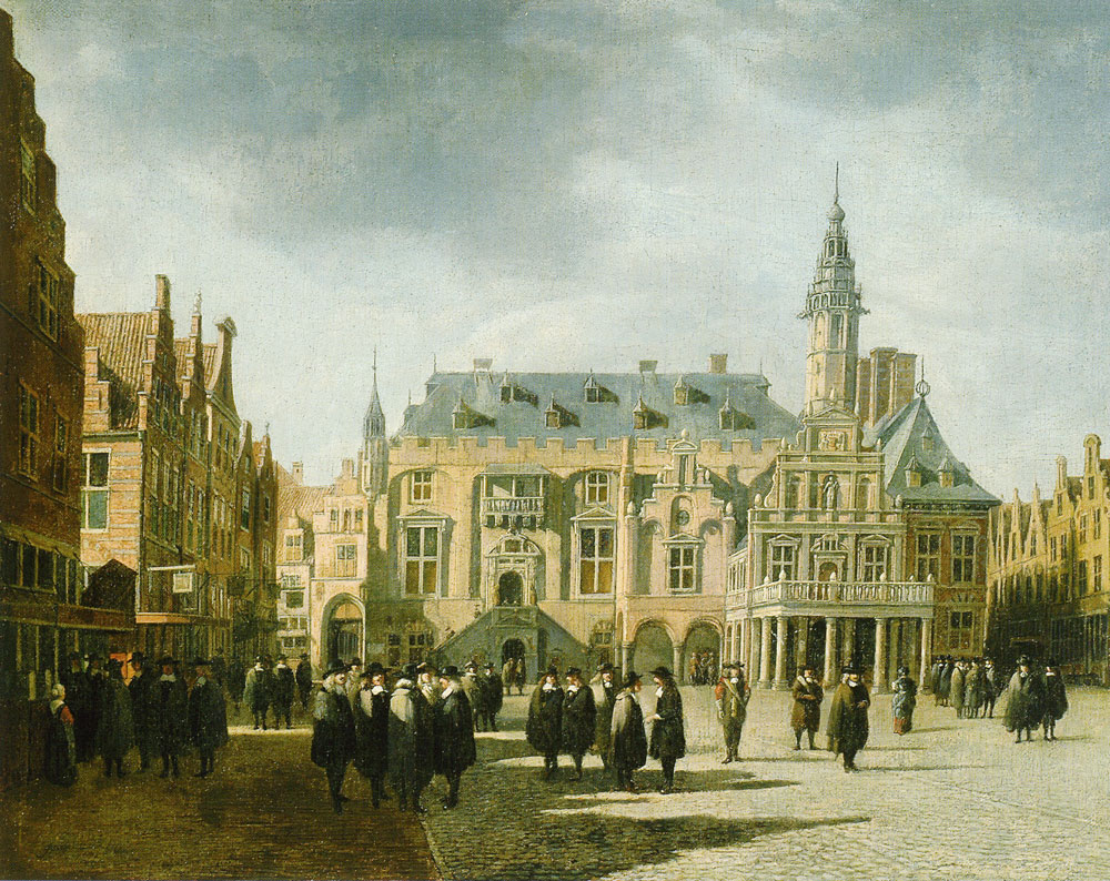 Gerrit Berckheyde - The Grote Markt in Haarlem with the Town Hall