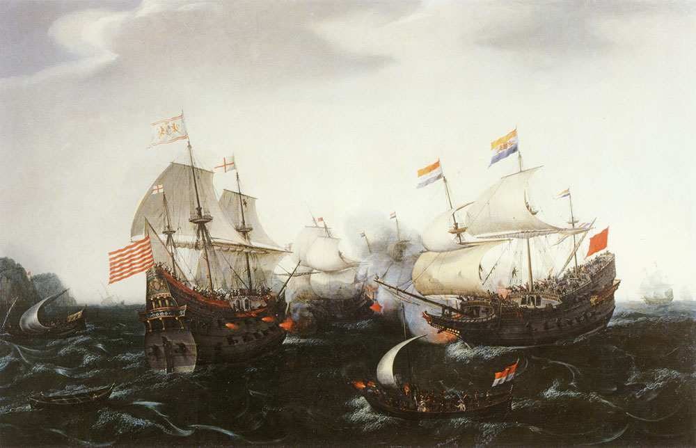 Hendrick Vroom - Battle between ships from Amsterdam and England