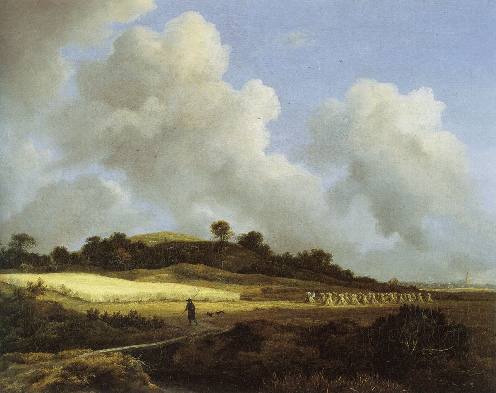 Jacob van Ruisdael - View of Grainfields with a Distant Town
