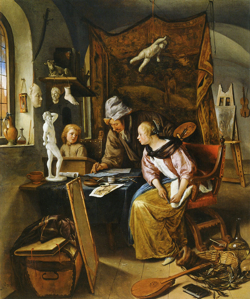 Jan Steen The Drawing Lesson