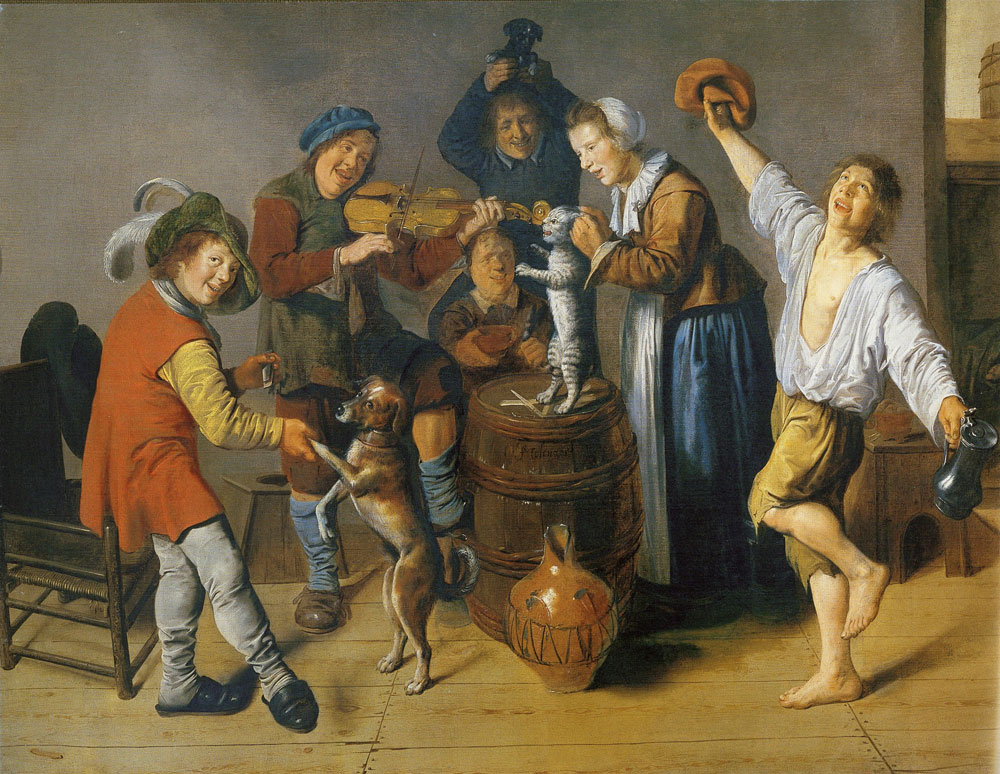 Jan Miense Molenaer - Children playing and merrymaking