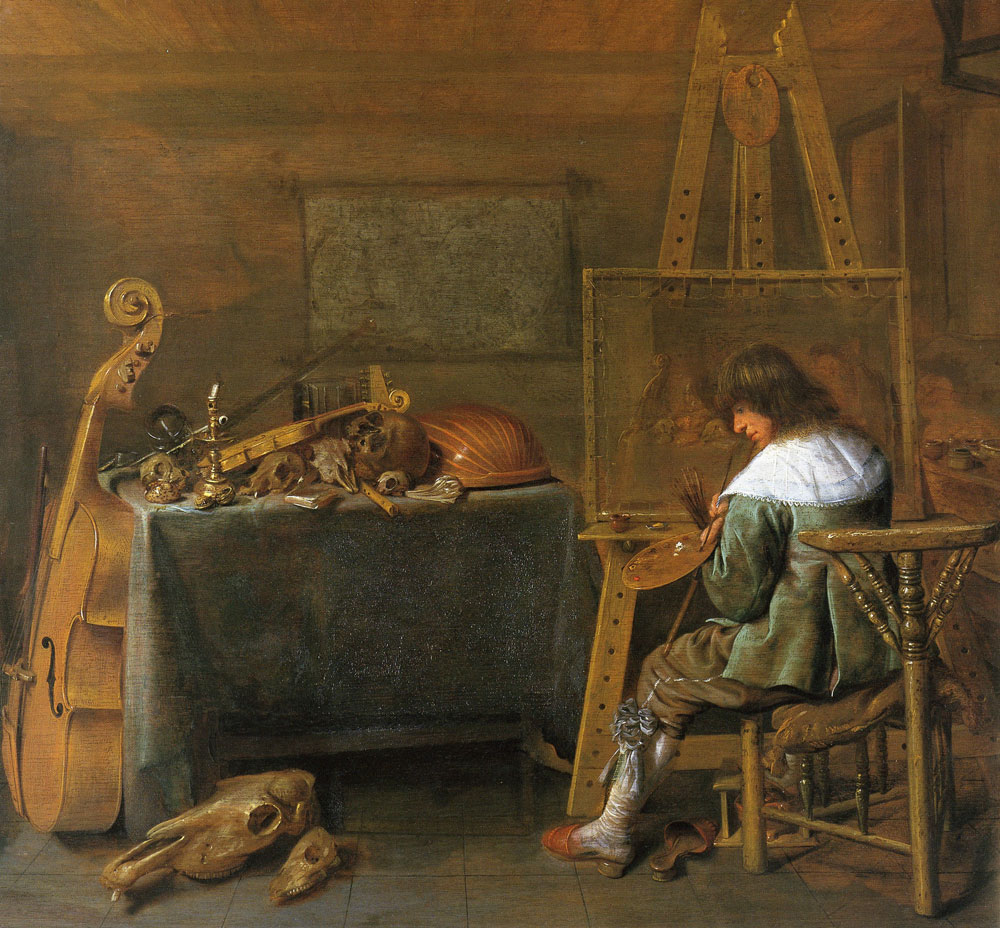 Jan Miense Molenaer - The painter at work
