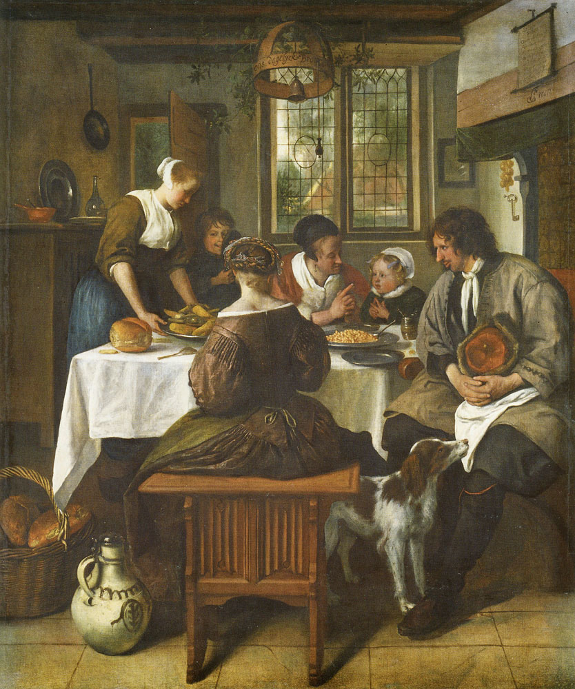 Jan Steen - The Prayer before the Meal